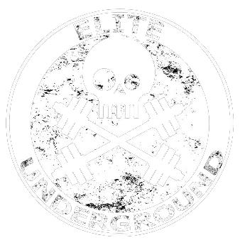 Elite Underground Logo Current White